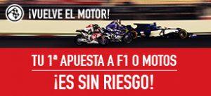 apuestas motogp Sportium F1 + Motos: Tu 1ª Apuesta ¡es Sin Riesgo!