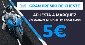 Paston MotoGP apuesta a marquez y si gana mundial 5€ gratis