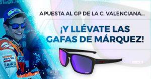 Paston MotoGP apuesta gp Valenciano y consigue las gafas de Marquez