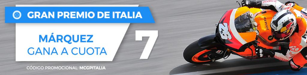 apuestas motogp Supercuota Paston MotoGP Italia, Márquez gana a cuota 7